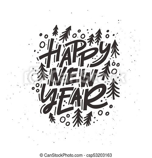 Happy New Year Lettering 50