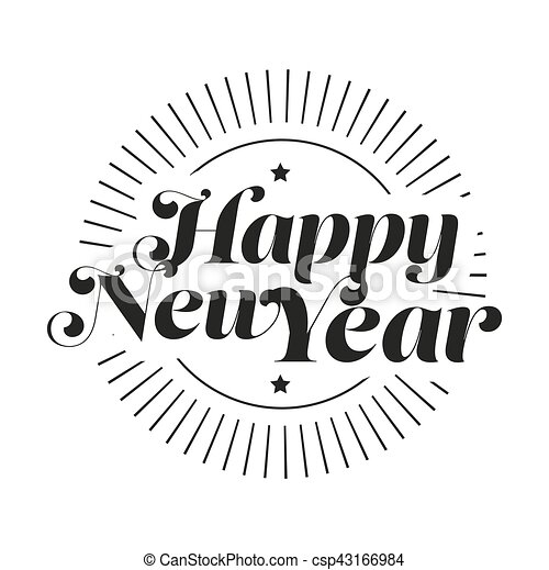 Happy New Year Lettering 102