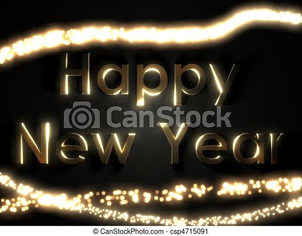 Happy new year - csp4715091