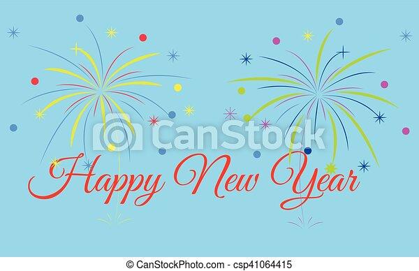 Happy new year - csp41064415