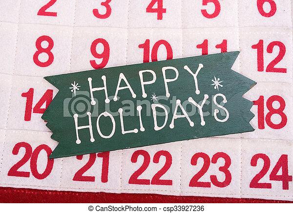 happy new year written on wooden background - csp33927236