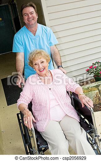 Happy Nursing Home Resident - csp2056929