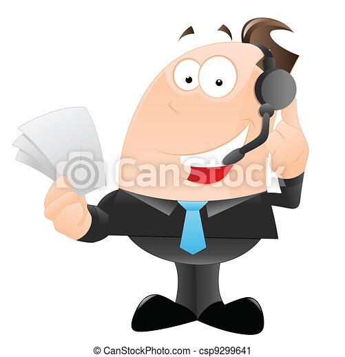 Happy Office Employee - csp9299641