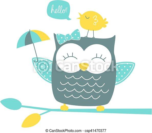 happy owl - csp41470377