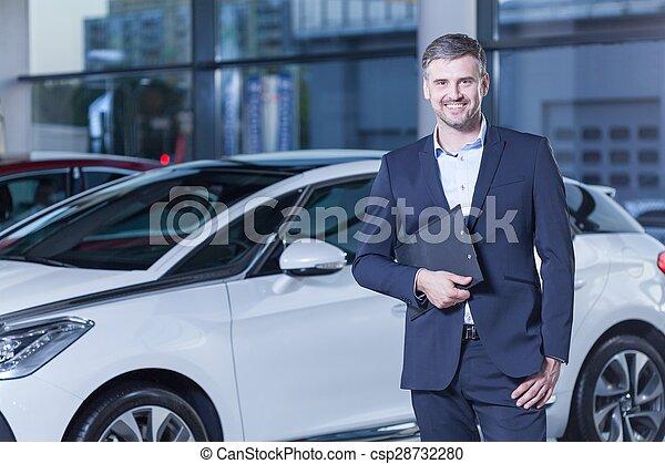 Happy owner of new car - csp28732280