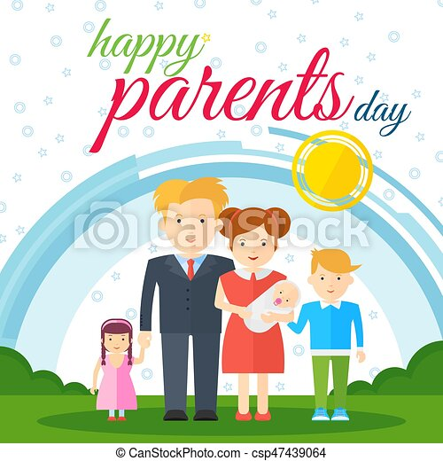 Exceptional Happy Parents Day White   Csp47439064