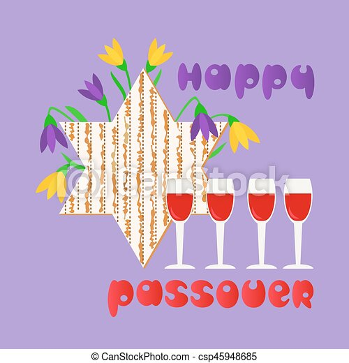 Happy passover card happy passover fancy hand drawn letters happy passover card csp45948685 m4hsunfo