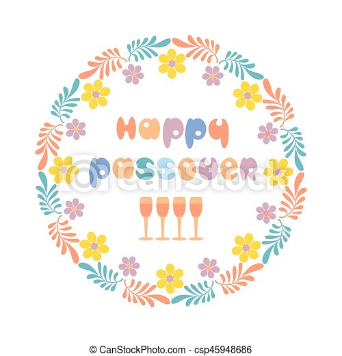 happy passover card. happy passover text. fancy freehand vector