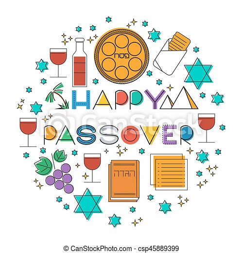 Happy Passover. Greeting card - csp45889399