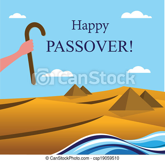 happy Passover- Out of the Jews from Egypt - csp19059510