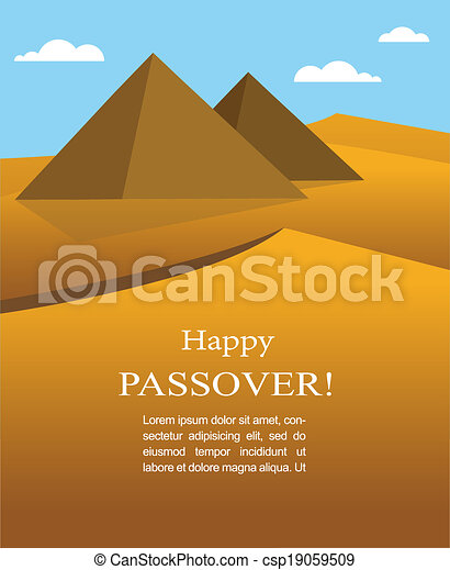 happy Passover- Out of the Jews from Egypt - csp19059509