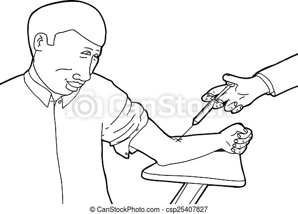 Happy Patient Getting Vaccinated Cartoon Of Happy Adult Getting