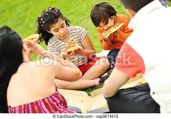Happy people outdoor - csp3674510