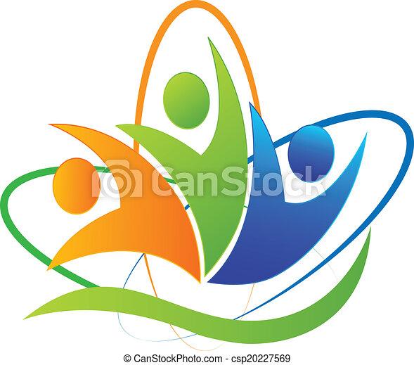 Happy people success app logo - csp20227569