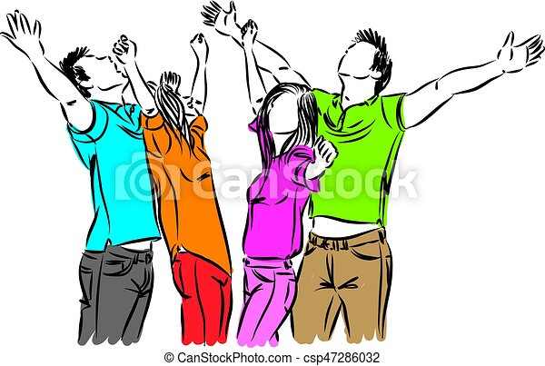 happy people together vector illustration vectors search clip art rh canstockphoto com happy people clip art free