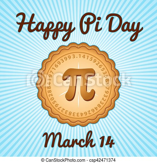 Happy Pi Day, March 14 Holiday - csp42471374