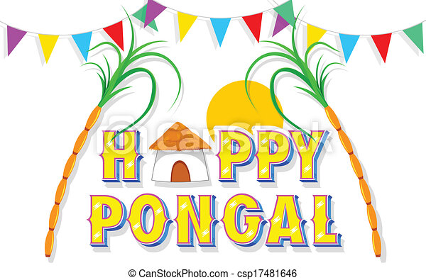 Illustration of happy pongal greeting background happy pongal csp17481646 m4hsunfo