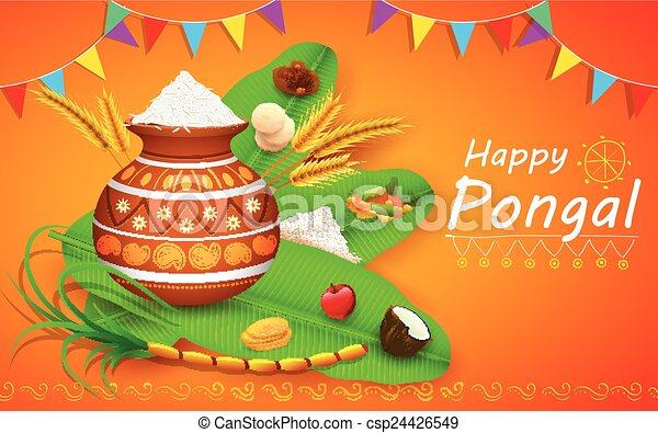 Illustration of happy pongal greeting background happy pongal csp24426549 m4hsunfo