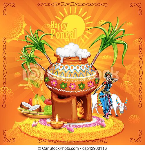 Illustration of happy pongal greeting background vector clip art happy pongal greeting background csp42908116 m4hsunfo Choice Image