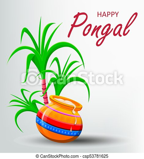 Happy pongal greeting card on white background makar sankranti happy pongal greeting card on white background makar sankranti poster vector illustration m4hsunfo