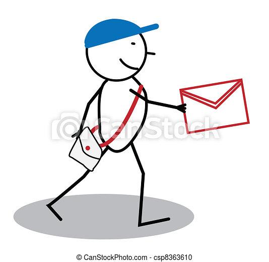 Happy post man  - csp8363610