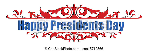 Happy presidents day text message greeting vector ...