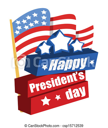 happy presidents day vector banner illustration vectors search rh canstockphoto com presidents day clipart for kids presidents day clip art cherry tree