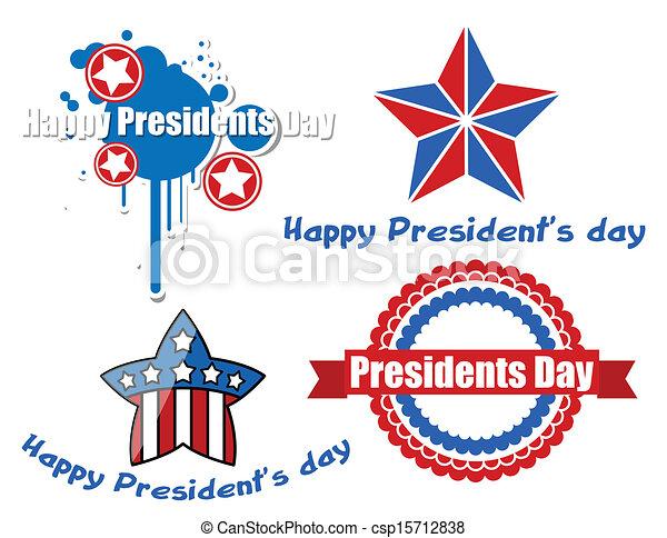 Happy Presidents Day Vector Design - csp15712838