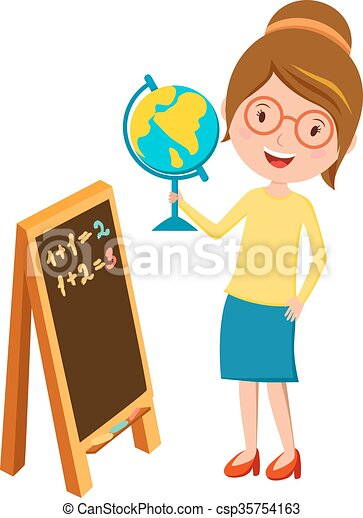 school teacher teaching people and happy occupation person clip rh canstockphoto com teaching clipart black and white teaching clipart png
