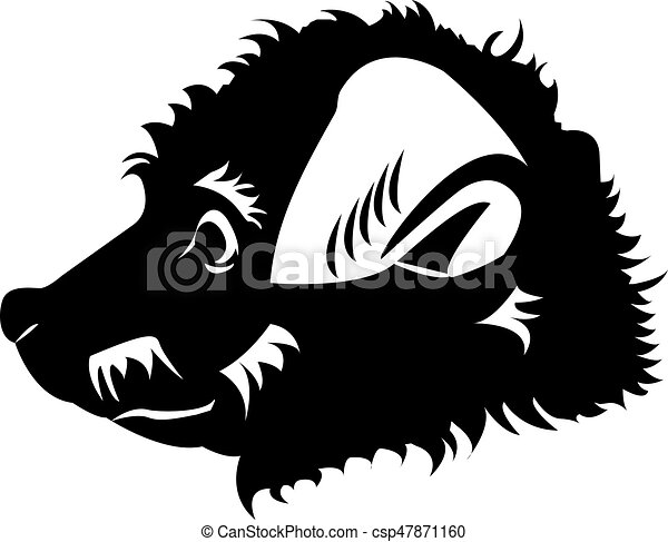 Happy Puppy Abstract Dog Logo Design Template