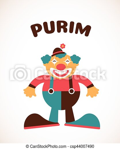 happy purim jewish holiday vector illustration of a clown eps rh canstockphoto com purim clip art free purim clipart black and white