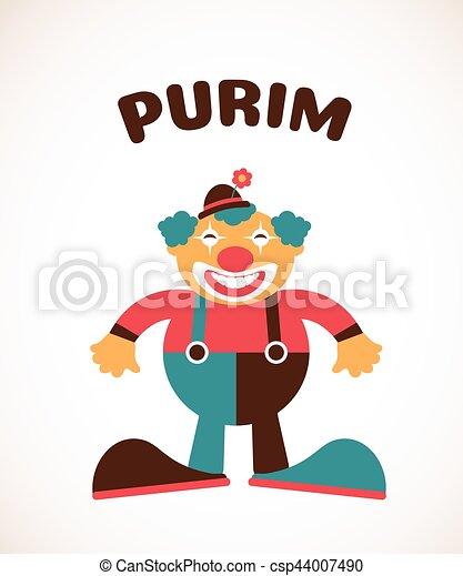 happy purim jewish holiday vector illustration of a clown eps rh canstockphoto com  purim clip art free