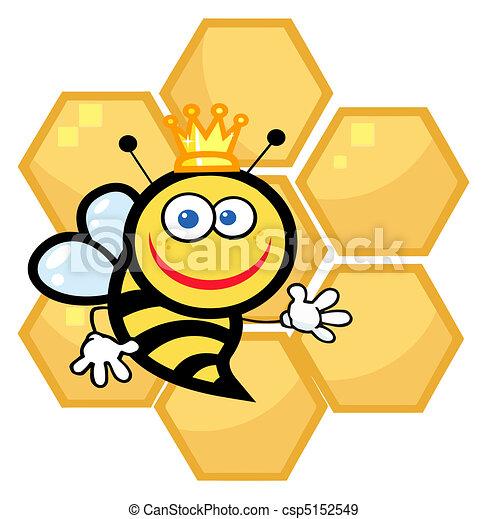 Happy Queen Bee - csp5152549