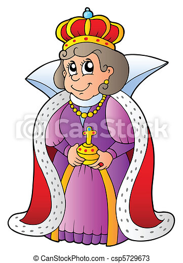 happy queen on white background vector illustration rh canstockphoto com bunco queen clip art dancing queen clip art