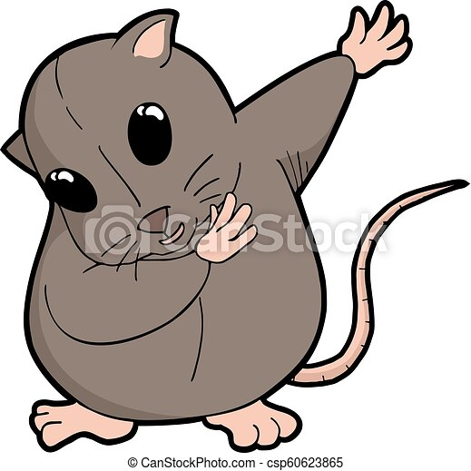 Creative Design Of Happy Rat Draw