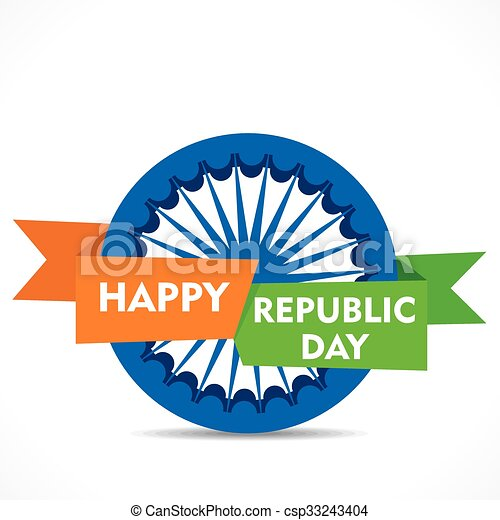 Happy republic day greeting design happy republic day greeting card happy republic day greeting design csp33243404 m4hsunfo