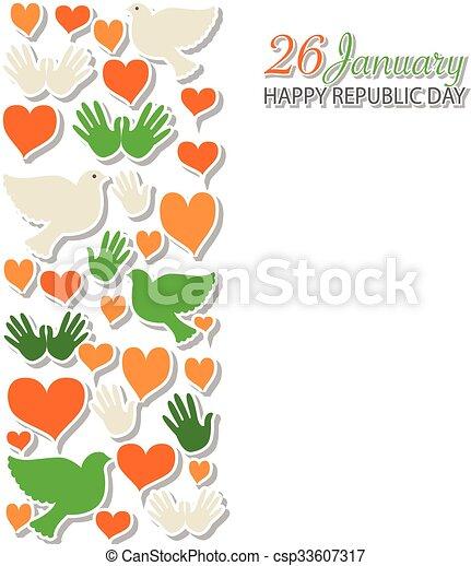 Happy republic day india vector illustration flat design