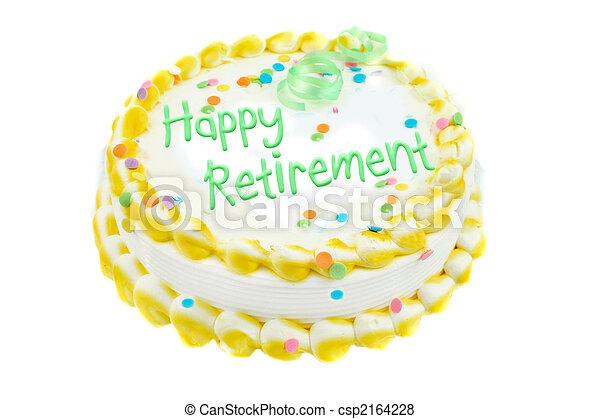 Happy retirement festive cake - csp2164228