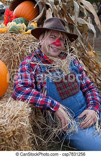 happy scarecrow - csp7831256