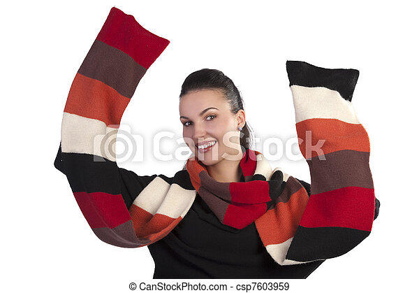 happy scarf season - csp7603959
