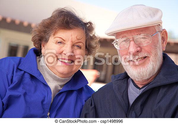 Happy Senior Adult Couple - csp1498996