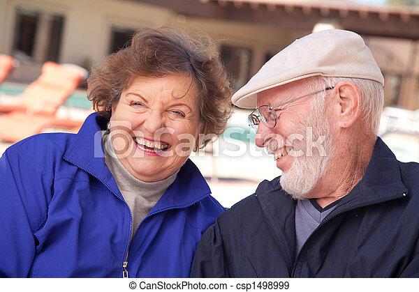 Happy Senior Adult Couple - csp1498999