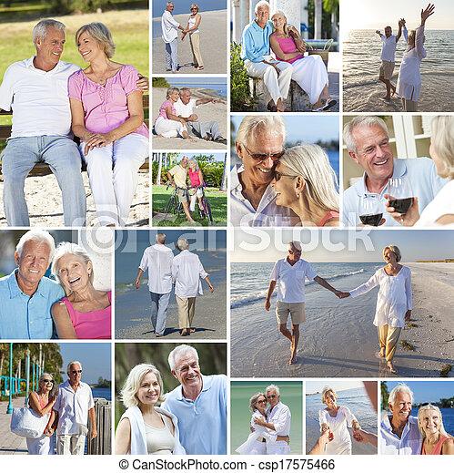 Happy Senior Couple People Beach Retirement Lifestyle - csp17575466