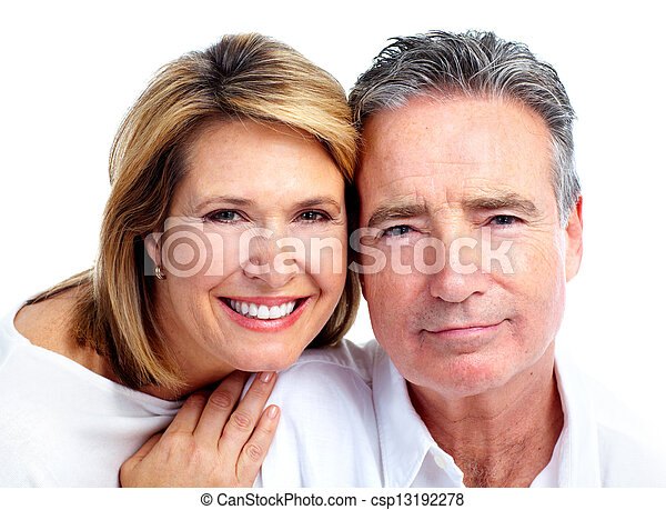 Happy senior couple. - csp13192278