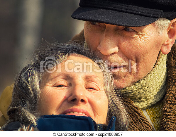 Happy senior couple - csp24883957