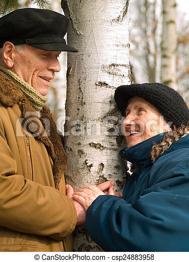Happy senior couple - csp24883958