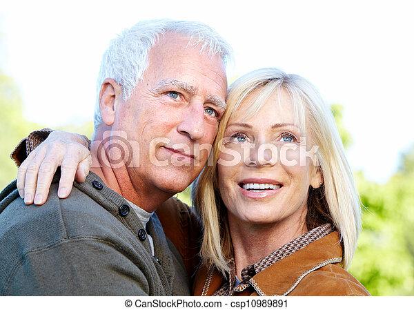 Happy senior couple. - csp10989891