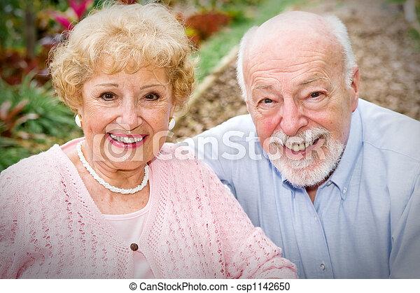 Happy Senior Couple - csp1142650