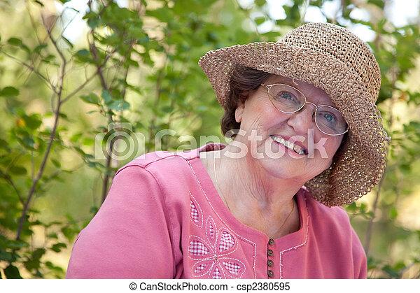 Happy Senior Woman Portrait - csp2380595