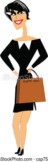 happy shopper - csp7533330
